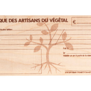 chèque cadeau en bois